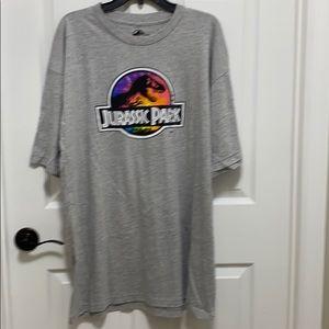 Jurassic World Jurassic Park T-shirt 2XLT NWT Gray